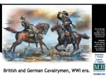 Master Box 1/35 British and German Cavalrymen WWI Era Figures
